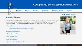 Hiawatha Community Hospital Portal