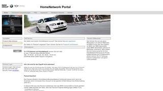Home Network Portal Bmw