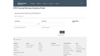 Hp Financial Services Customer Portal
