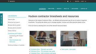 Hudson Contractor Portal