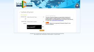 Icegate E Payment Portal