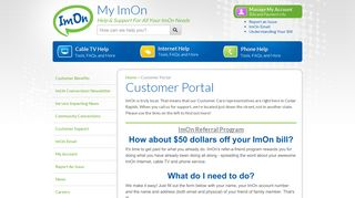 Imon Customer Portal