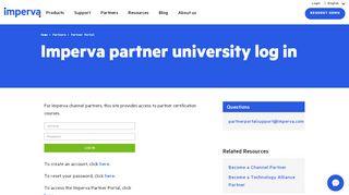 Imperva Partner Portal