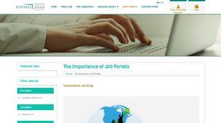 Importance Of Job Portals
