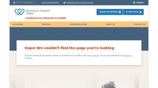 Institute For Women's Health Portal