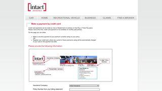 Intact Payment Portal