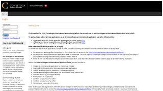 International Admissions Portal