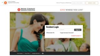 Irvine Company Resident Portal