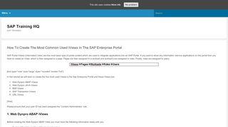 Iviews In Sap Portal