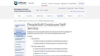 Jefferson Employee Self Service Portal