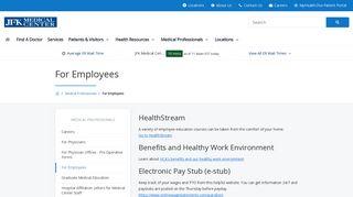 Jfk Medical Center Employee Portal