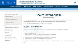 Jhu Health Portal