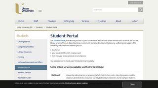 Jordanstown University Portal