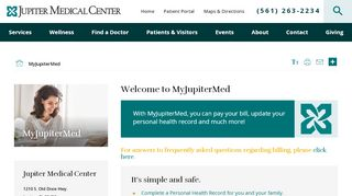 Jupiter Medical Center Portal