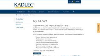 Kadlec Physician Portal