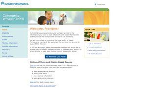 Kaiser Permanente Provider Portal