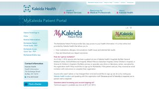 Kaleida Health Patient Portal