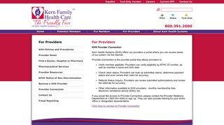 Kern Health Systems Provider Portal