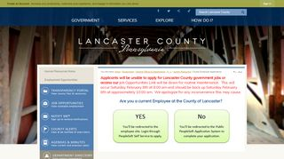 Lancaster County Employee Portal