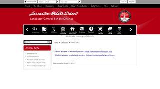 Lancaster Student Portal