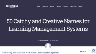 Learning Portal Names