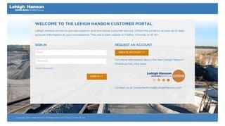 Lehigh Hanson Customer Portal