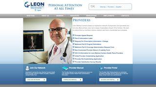 Leon Medical Provider Portal