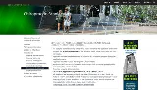 Life University Scholarship Portal