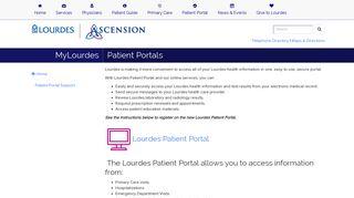 Lourdes Patient Portal
