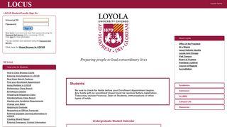 Loyola University Portal