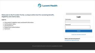 Lucent Health Provider Portal