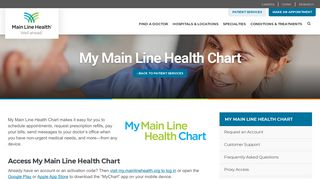 Main Line Health Patient Portal