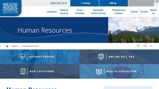 Marcus Daly Memorial Hospital Employee Portal