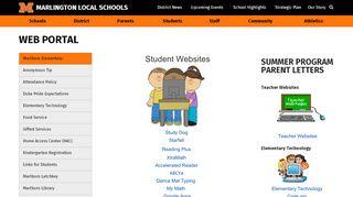 Marlington Web Portal
