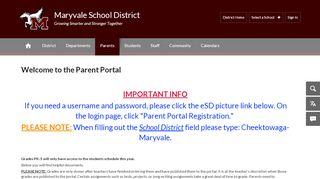 Maryvale Parent Portal