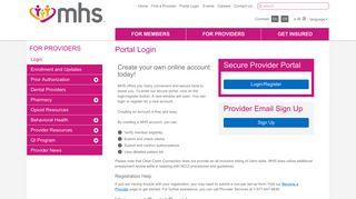 Mhs Provider Portal