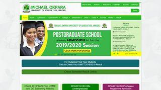 Michael Okpara University Portal