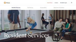 Mid America Apartment Communities Resident Portal