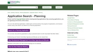 Mole Valley Planning Portal