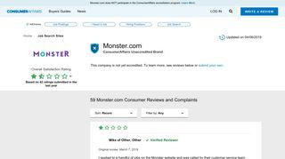 Monster Job Portal Review