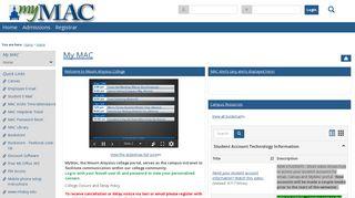 Mount Aloysius College Portal