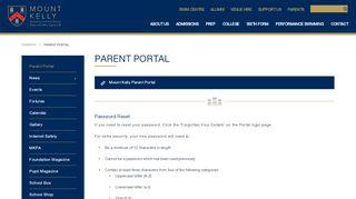 Mount Kelly Parent Portal