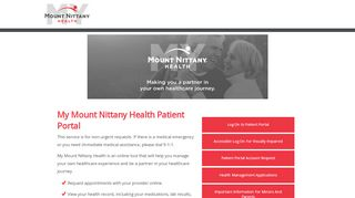 Mount Nittany Patient Portal