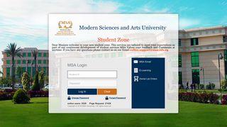 Msa University Portal