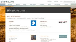 Mt Gov Employee Portal