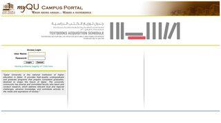 My Qu Campus Portal