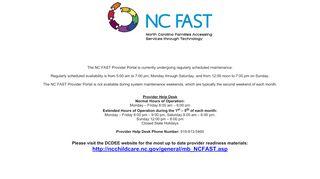Nc Fast Provider Portal