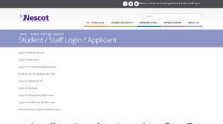 Nescot Applicant Portal