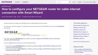 Netgear Admin Portal