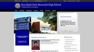 New Hyde Park Memorial High School Parent Portal
